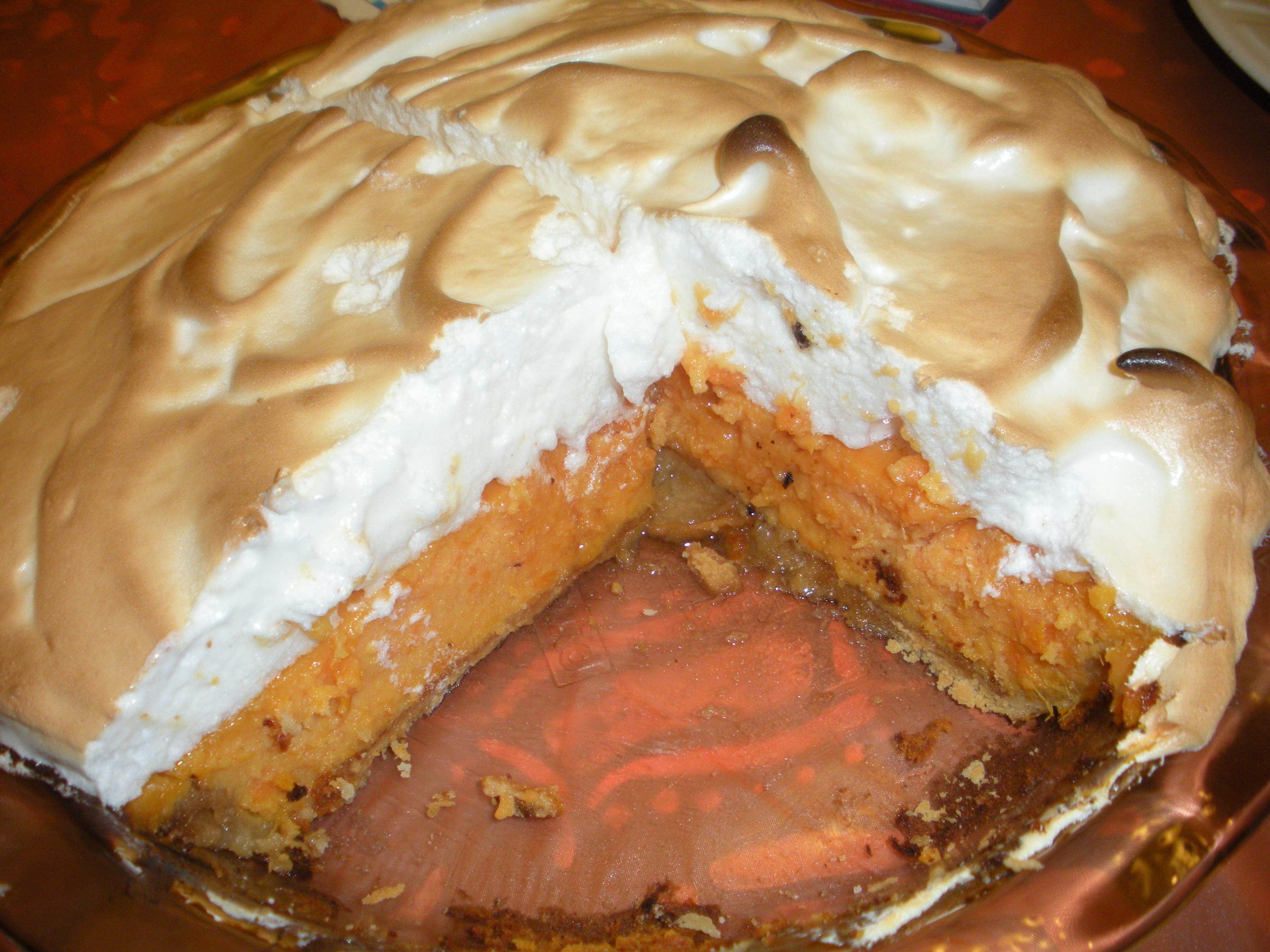 Sweet Potato Pie with Marshmallow Meringue   Kitchen Adventure Time