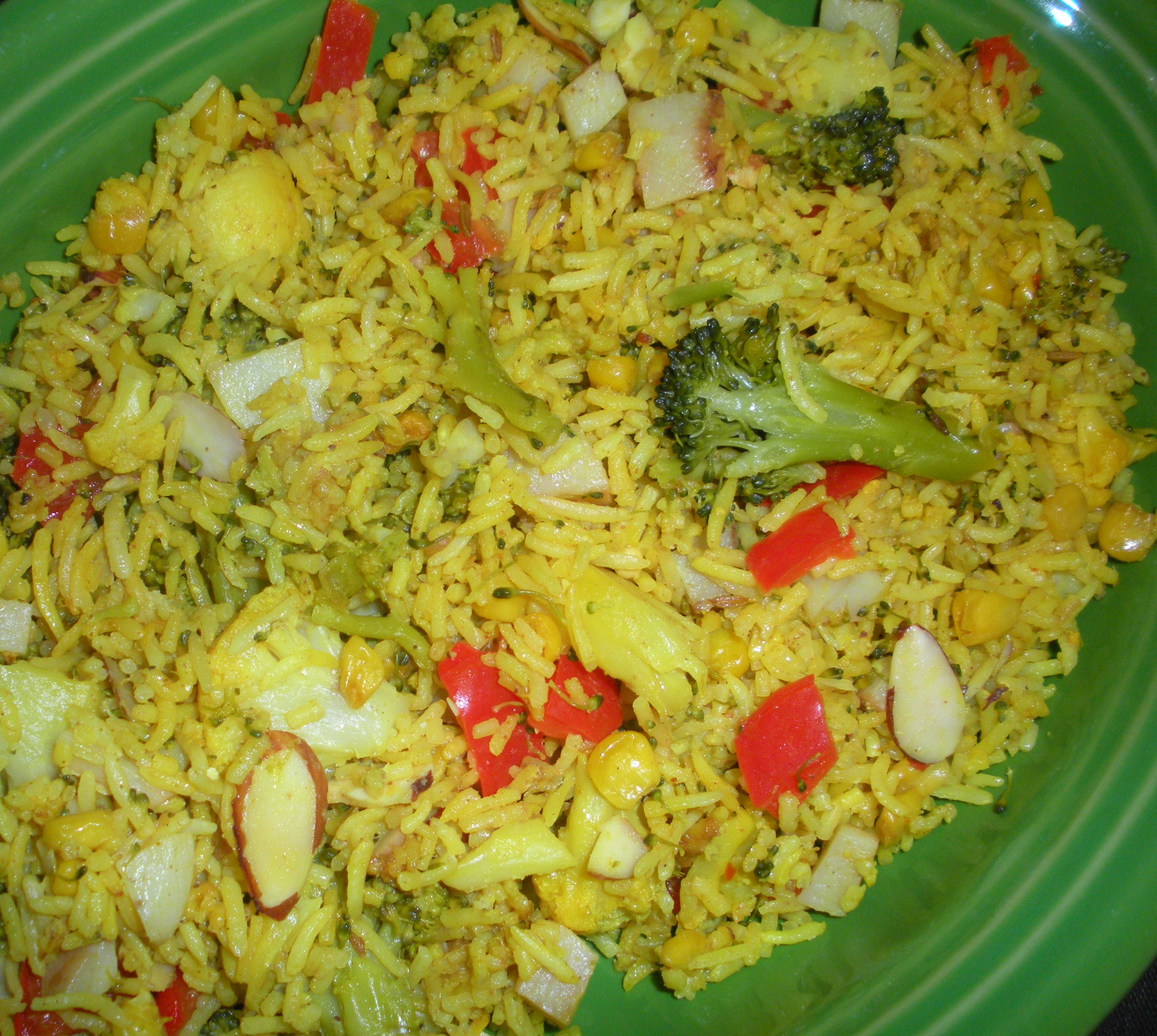 Vegetable Rice Pilaf with Garam Masala