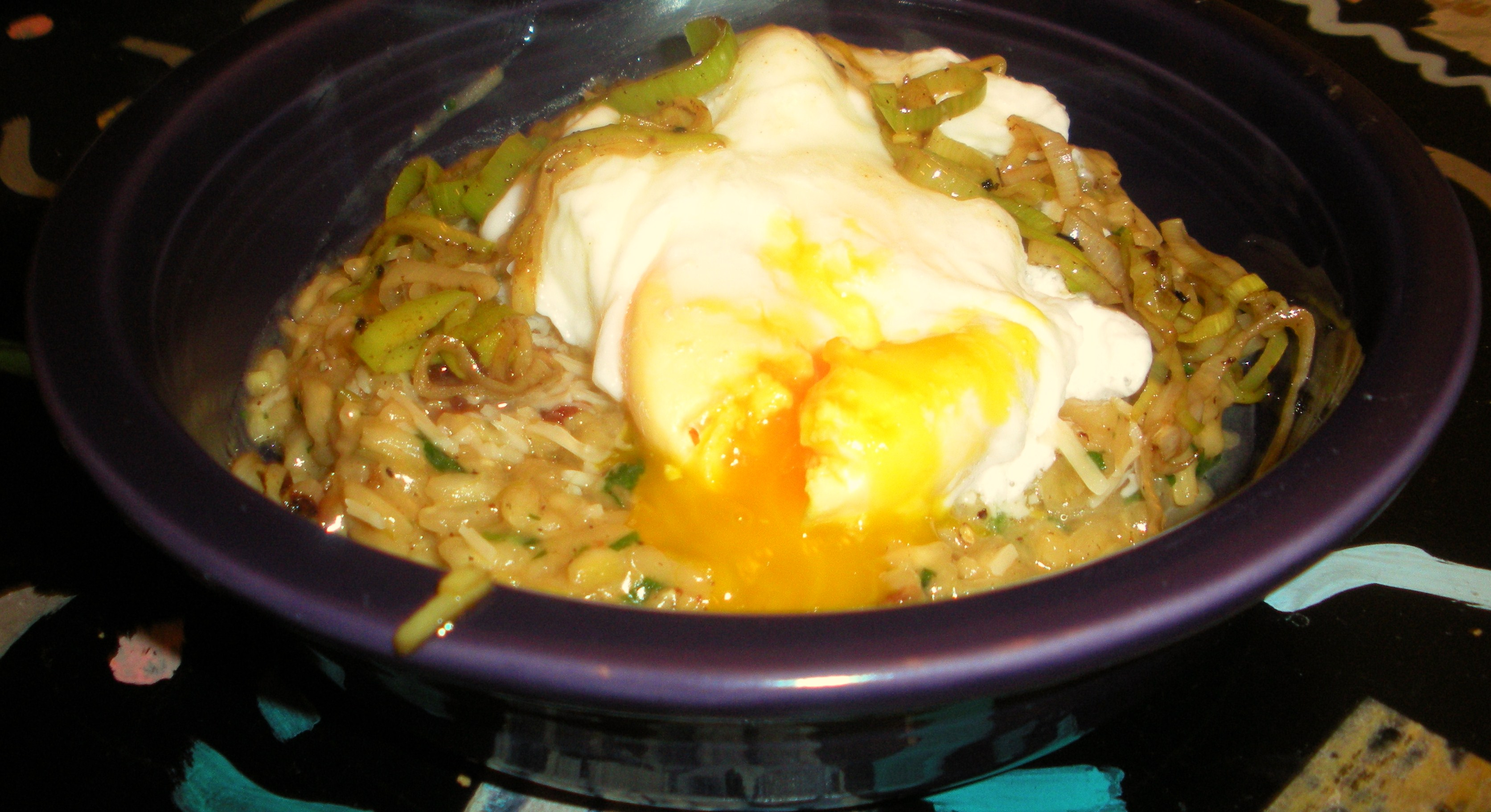 Bacon and Leek Risotto with Poached Egg | Kitchen Adventure Time